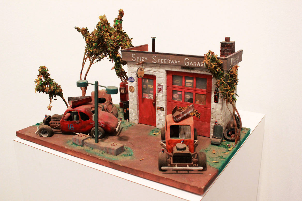 Dean Gillispie's model, made of materials scavenged from around the prison. (Emma Vickers/NYCityLens)